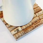 bakus trivet, onderzetter van kurken, origineel relatiegeschenk